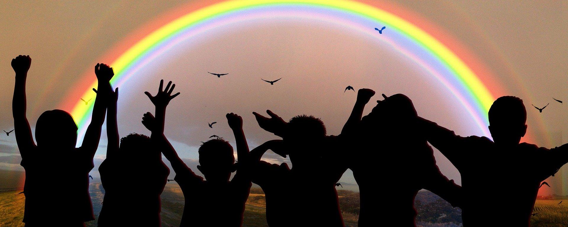 Unser Regenbogen für Glück und Zuversicht