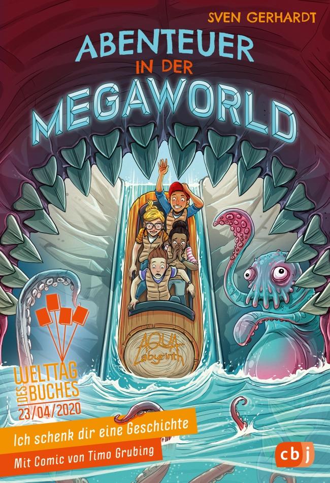 """Cover vom """"Abenteuer in der Megawolrd""""."""