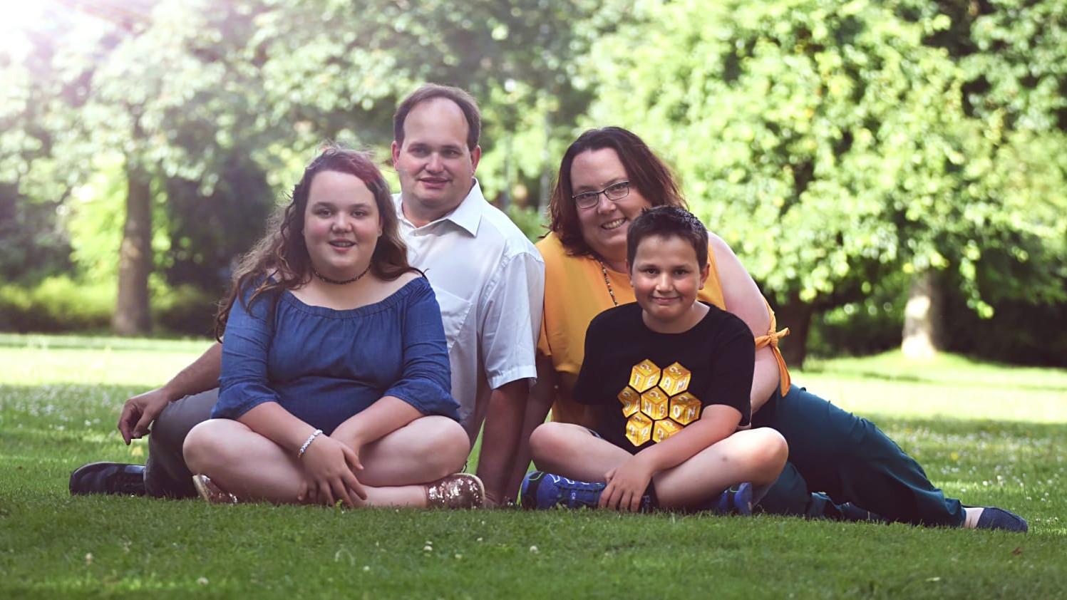 Elternbeiratsvorsitzende Frau Winter mit ihrer Familie